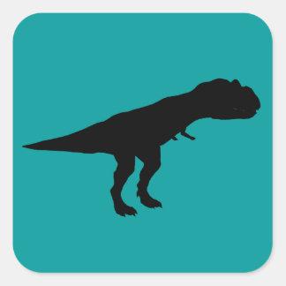 Allosaurus Dino Dinosaur Silhouette Square Sticker