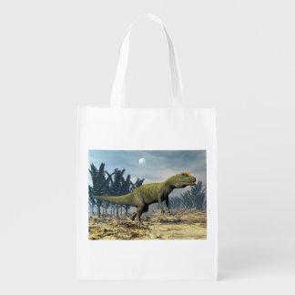Allosaurus dinosaur - 3D render Grocery Bag