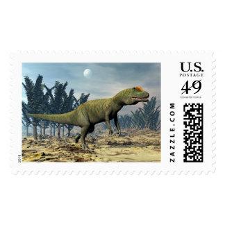 Allosaurus dinosaur - 3D render Postage