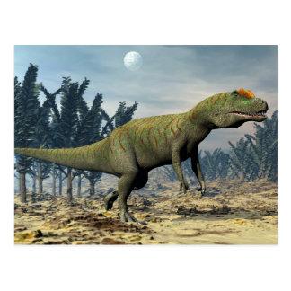 Allosaurus dinosaur - 3D render Postcard
