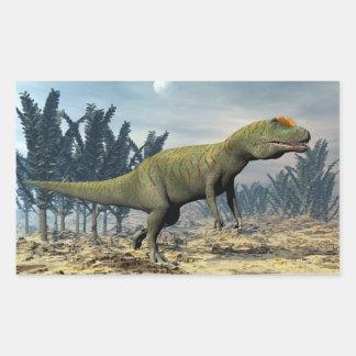 Allosaurus dinosaur - 3D render Rectangular Sticker