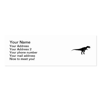Allosaurus dinosaur pack of skinny business cards