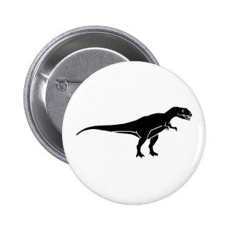 Allosaurus dinosaur 2 inch round button