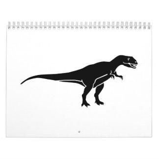 Allosaurus dinosaur calendar
