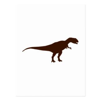 Allosaurus dinosaur postcard