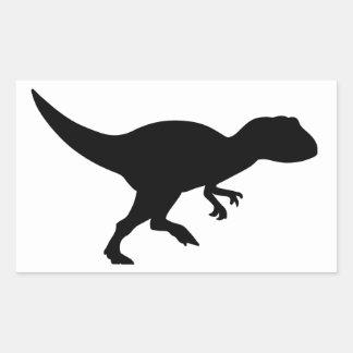 Allosaurus Dinosaur Rectangular Sticker
