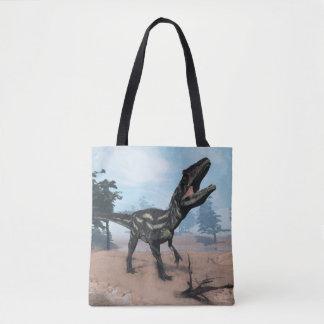 Allosaurus dinosaur roaring - 3D render Tote Bag