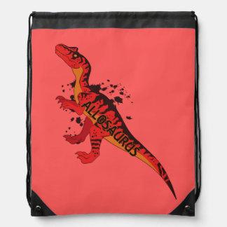 Allosaurus Drawstring Bag