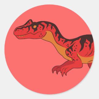 Allosaurus (Face) Classic Round Sticker