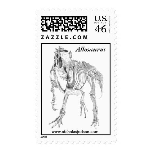Allosaurus fragilis stamps