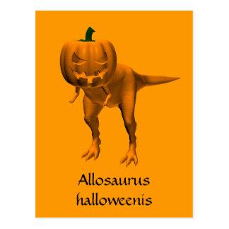 Allosaurus halloweenis postcard
