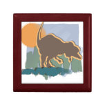 Allosaurus in Brown and Orange in Sun and Grass Gift Box