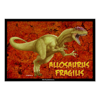 Allosaurus Posters