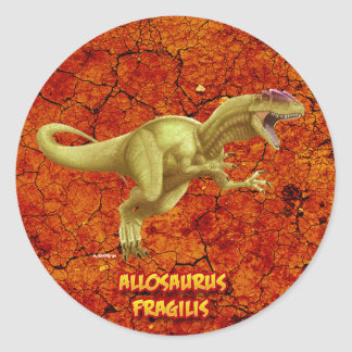 Allosaurus Pegatina Redonda