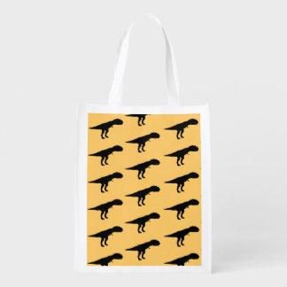 Allosaurus Silhouette Grocery Bag