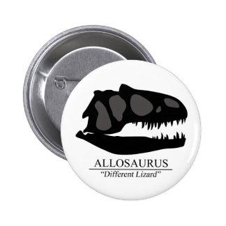 Allosaurus Skull Button