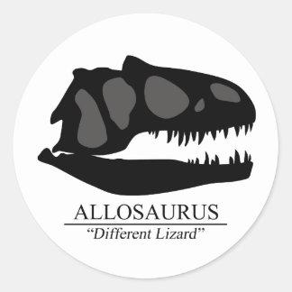 Allosaurus Skull Classic Round Sticker