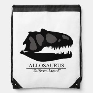 Allosaurus Skull Drawstring Bag