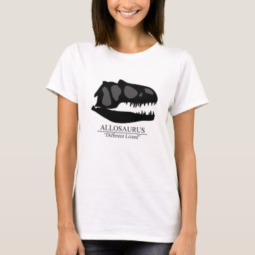 Beach Themed Allosaurus Skull T-Shirt