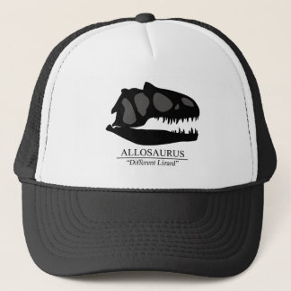 Allosaurus Skull Trucker Hat