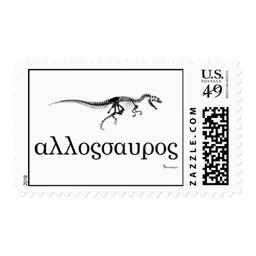 Allosaurus Stamp