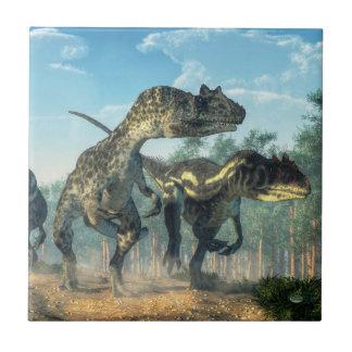 Allosauruses Azulejo Cuadrado Pequeño