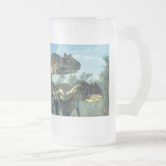 Allosauruses Frosted Glass Beer Mug