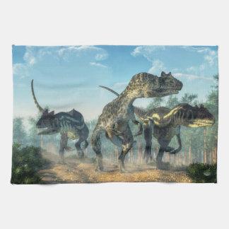 Allosauruses Hand Towel