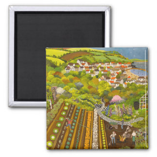 Allotment above Mousehole 2 Inch Square Magnet