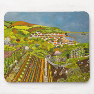 Allotment above Mousehole Mouse Pad