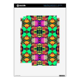 allover design colorful decals for iPad 3