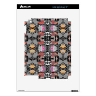 allover design silver decals for iPad 2