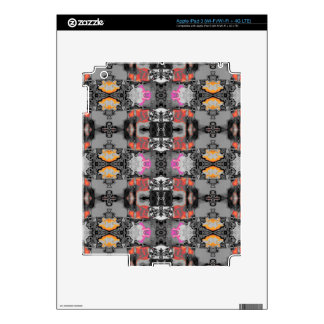 allover design silver decals for iPad 3