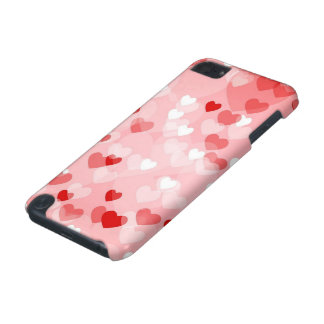 Allover hearts,red iPod touch 5G case