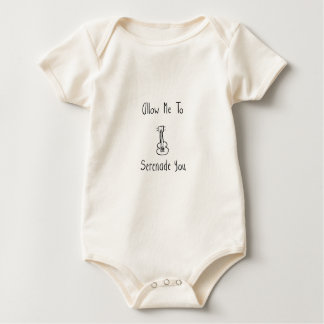 Allow Me to Serenade You - Musician's Apparel Baby Bodysuit