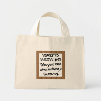 Allow Time for Special Projects Mini Tote Bag