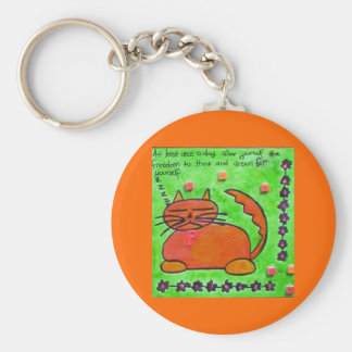 allow your self to dream basic round button keychain
