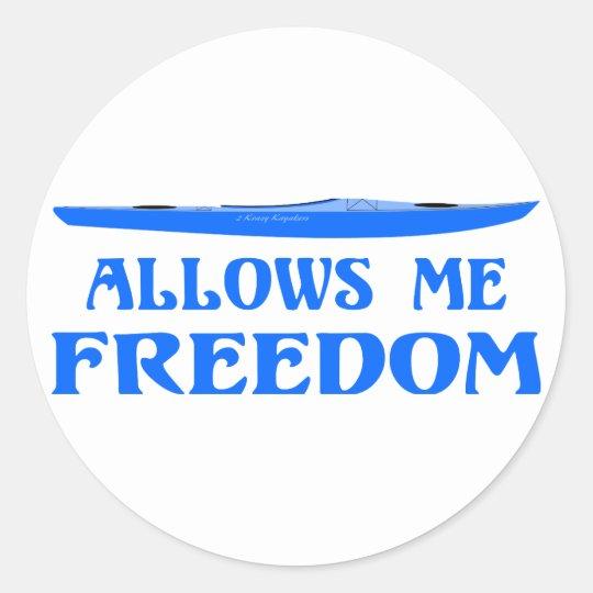 Allows Me Freedom Classic Round Sticker