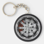 Alloy Basic Round Button Keychain