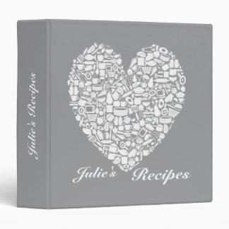 Alloy Gray & White Bridal Shower Recipe Binder