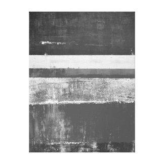 'Alloy' Grey Abstract Art Canvas Print