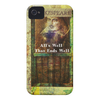 All's Well That Ends Well - Shakespeare Quote Case-Mate iPhone 4 Cases