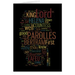 All's Well That Ends Well Word Mosaic Greeting Card