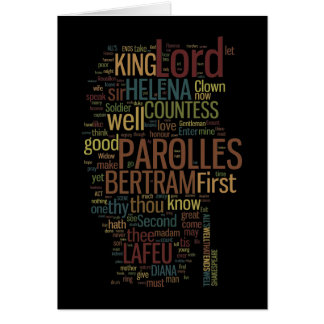 All's Well That Ends Well Word Mosaic Card