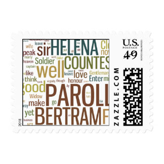 All's Well That Ends Well Word Mosaic Postage Stamps