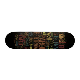 All's Well That Ends Well Word Mosaic Skateboard