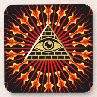Allsehendes eye of God, all seeing eye Drink Coasters