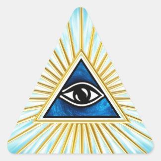 Allsehendes eye of God, pyramid, freemason Triangle Sticker