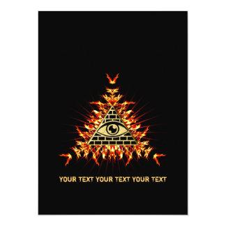 Allsehendes eye of God, pyramid, planning Card