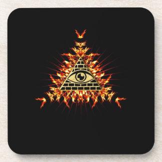 Allsehendes eye of God, pyramid, planning Coasters
